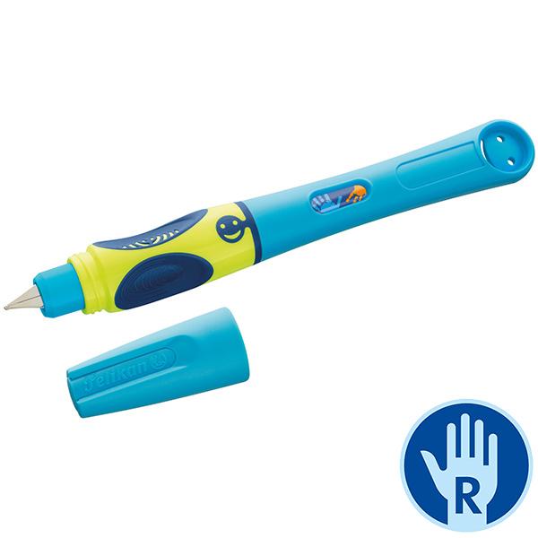 Pelikan Griffix Füllhalter Stufe 4 Neon Fresh Blue Rechtshänder