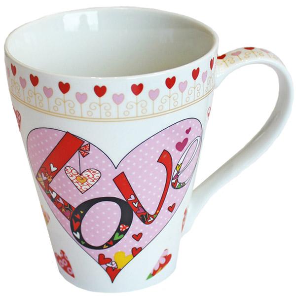 Tasse Love Herz mit Punkten