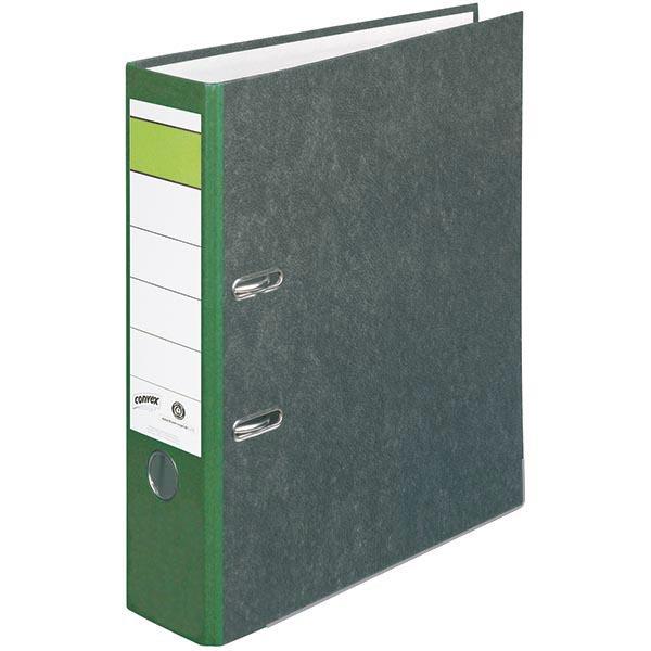 Convex Ordner grün 80 mm DIN A4 Wolkenmarmor