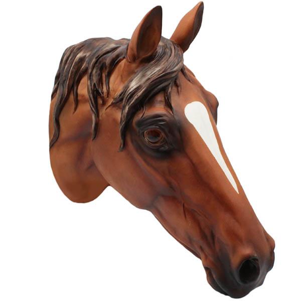 Wandfigur Pferdekopf braun 29 cm
