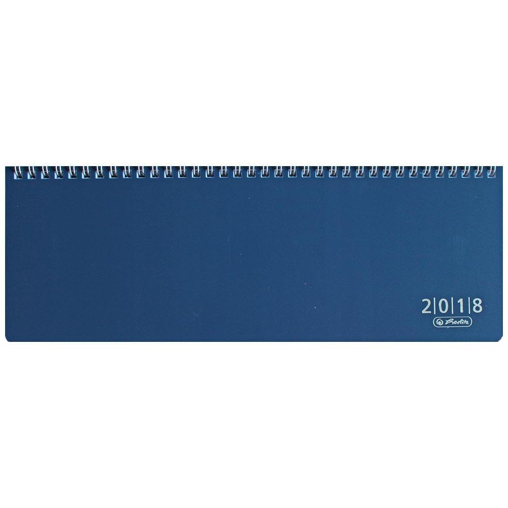 Herlitz Schreibtischkalender 2018 blau Folie