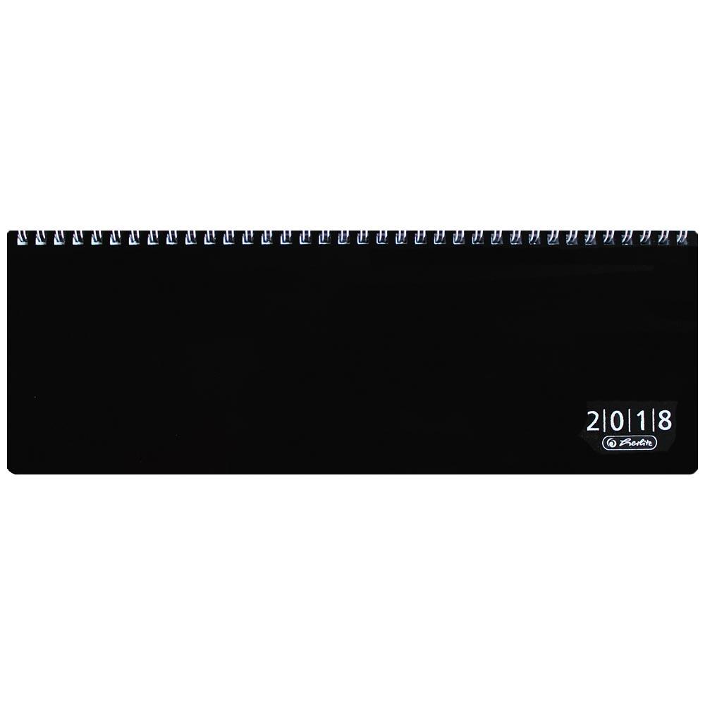 Herlitz Schreibtischkalender 2018 schwarz Folie