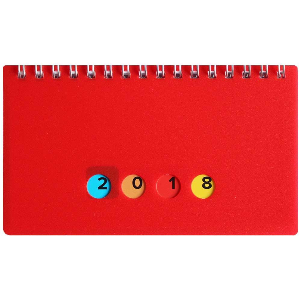Herlitz Schreibtischkalender 2018 Mini Protect rot