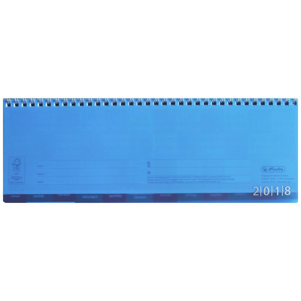 Herlitz Schreibtischkalender 2018 blau transluzent