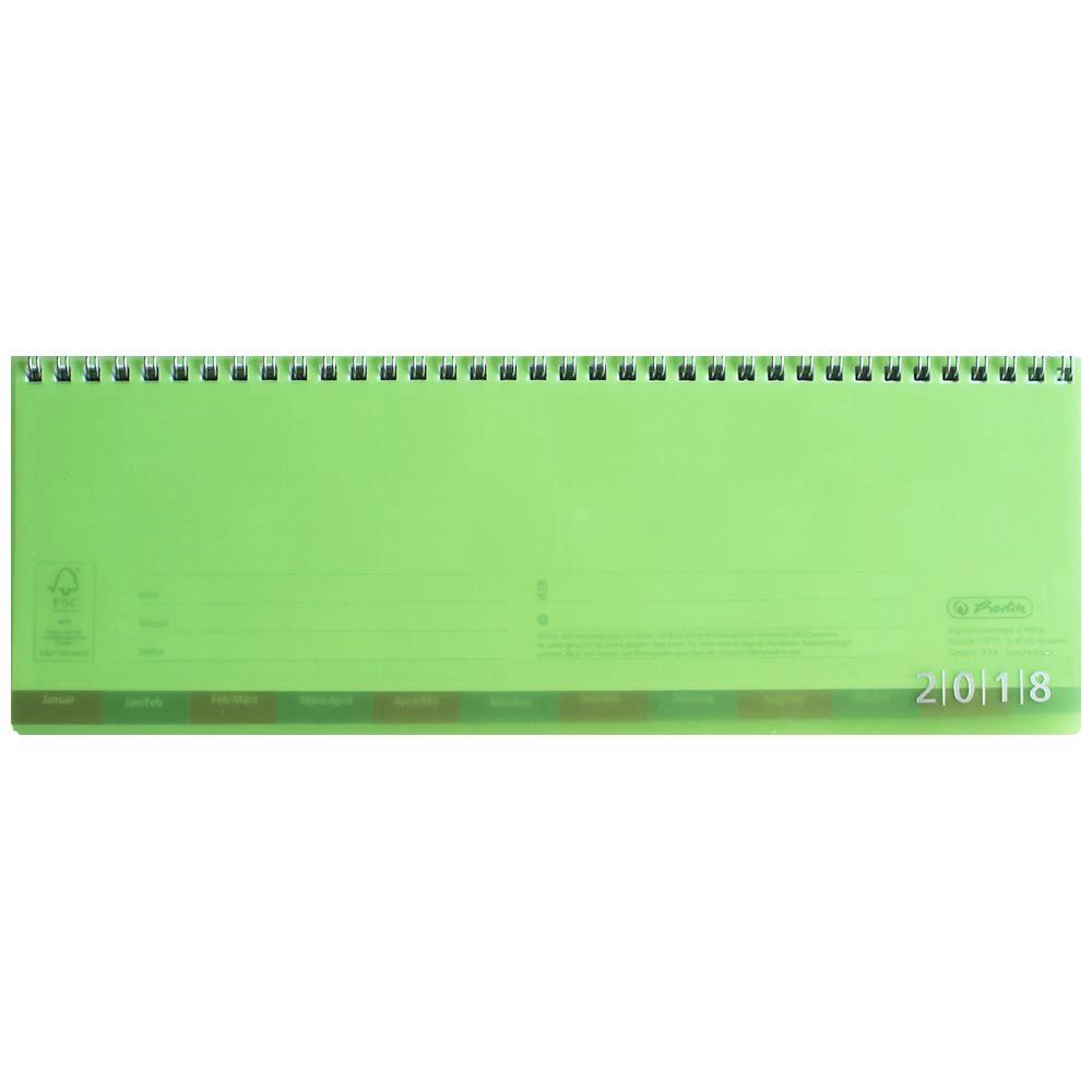 Herlitz Schreibtischkalender 2018 grün transluzent