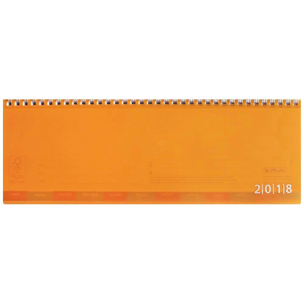 Herlitz Schreibtischkalender 2018 orange transluzent