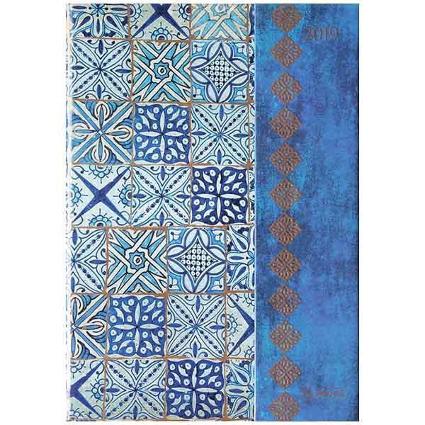 Herlitz Buchkalender A5 Magnetverschluss 2019 blau