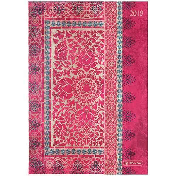 Herlitz Buchkalender A5 Magnetverschluss 2019 pink
