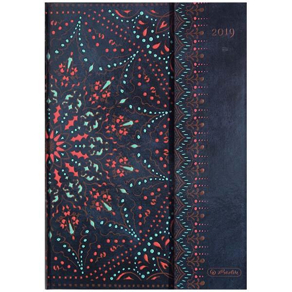Herlitz Buchkalender A5 Magnetverschluss 2019 schwarz