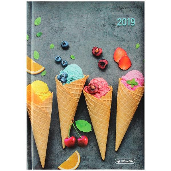 Herlitz Buchkalender Rainbow 2019 A5 Eistüten