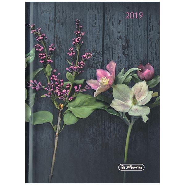 Herlitz Buchkalender A6 Rainbow Blüten 2019