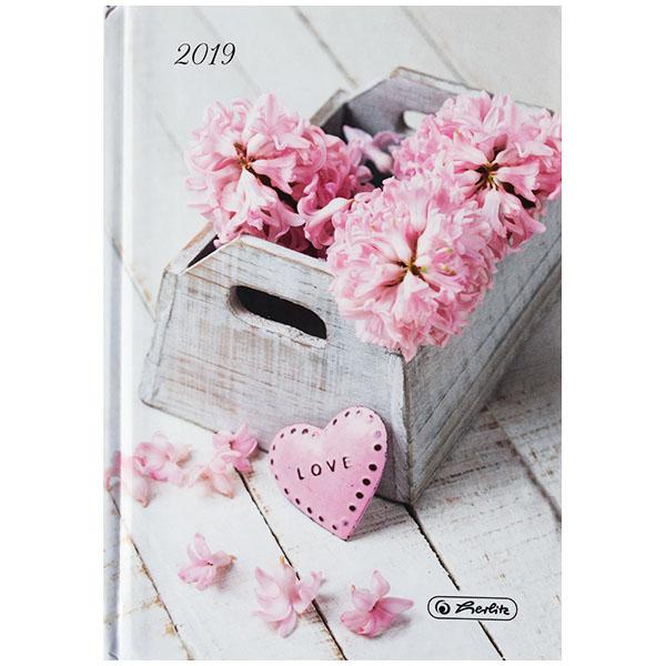 Herlitz Buchkalender A6 Rainbow Love 2019