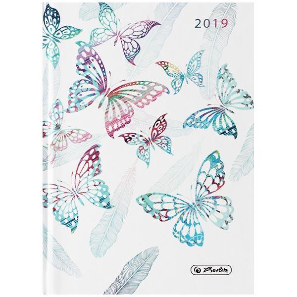 Herlitz Buchkalender A6 Rainbow Butterfly 2019