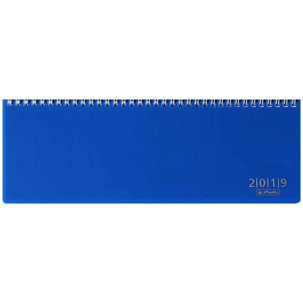 Herlitz Schreibtischkalender Folie 2019 blau