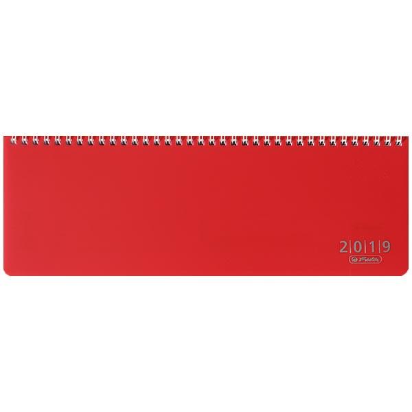 Herlitz Schreibtischkalender Folie 2019 rot