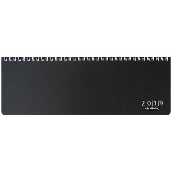 Herlitz Schreibtischkalender Folie 2019 schwarz