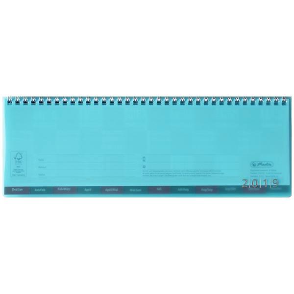 Herlitz Schreibtischkalender transluzent 2019 türkis