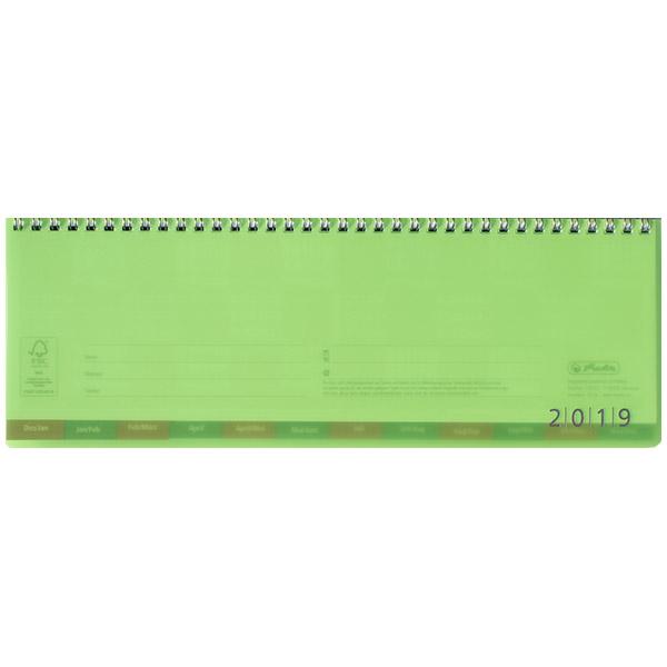Herlitz Schreibtischkalender transluzent 2019 grün