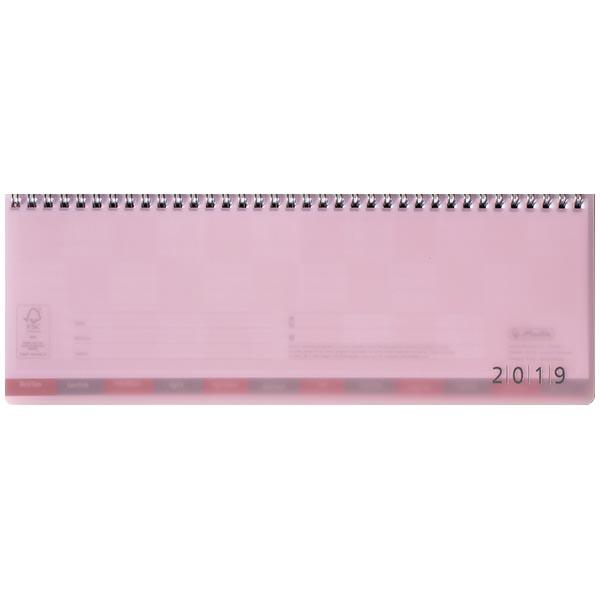 Herlitz Schreibtischkalender transluzent 2019 rosa