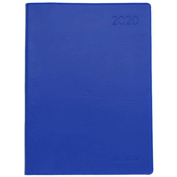Herlitz Taschenkalender A6 Folie 2020 blau
