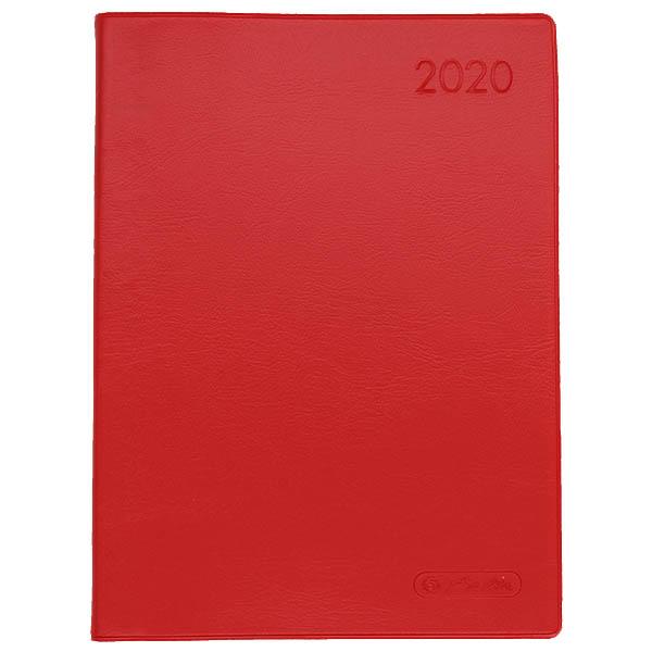Herlitz Taschenkalender A6 Folie 2020 rot