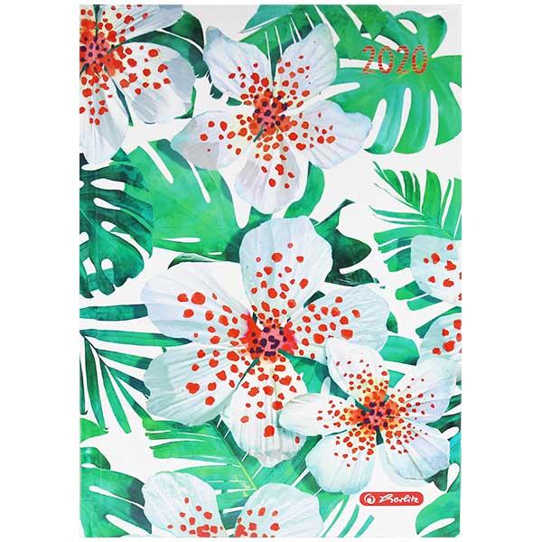 Herlitz Buchkalender Rainbow Blumen 2020 A5