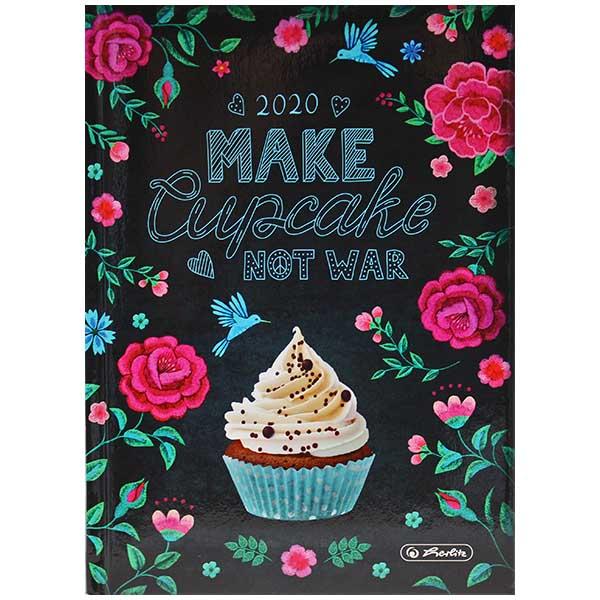 Herlitz Buchkalender Rainbow Cupcake 2020 A5
