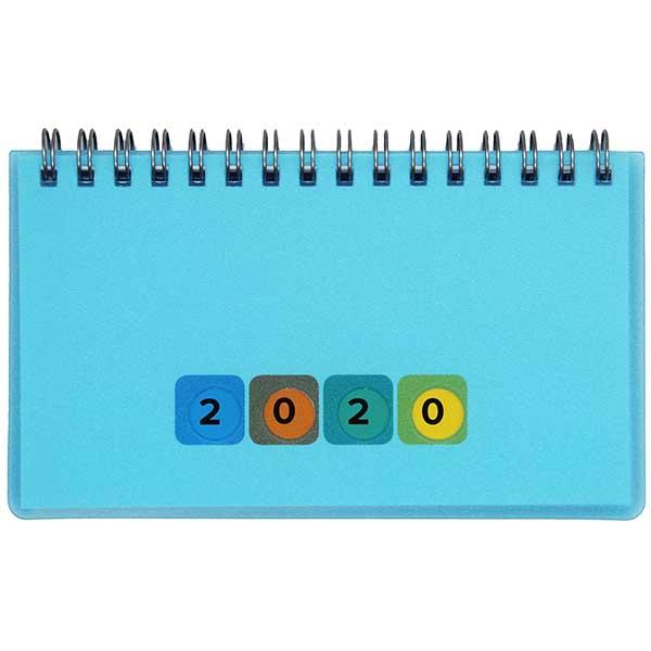 Herlitz Schreibtischkalender Mini Protect 2020 blau
