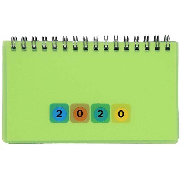 Herlitz Schreibtischkalender Mini Protect 2020 grün