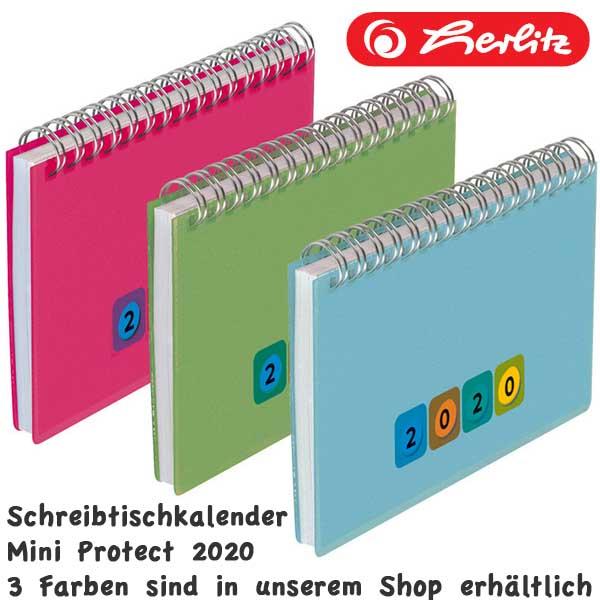 grün Kalender 2020 Herlitz Schreibtischkalender