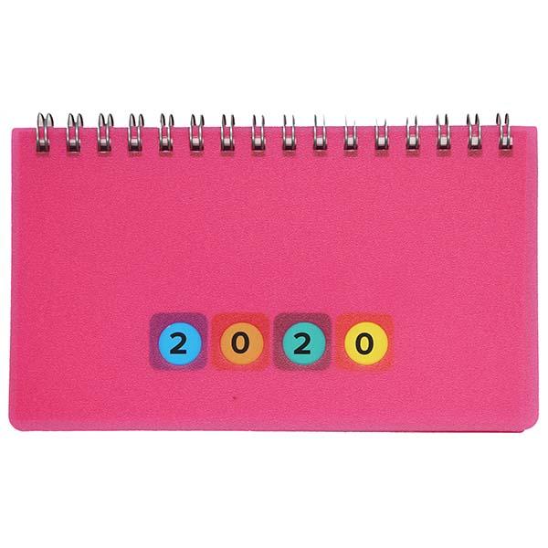 Herlitz Schreibtischkalender Mini Protect 2020 pink