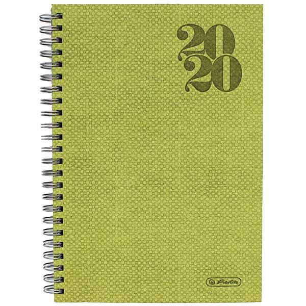 Herlitz Spiralkalender A5 Nature 2020 grün