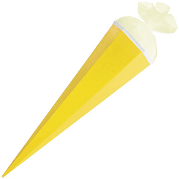 Herlitz Schultüte Rohling gelb 6-eckig 85 cm