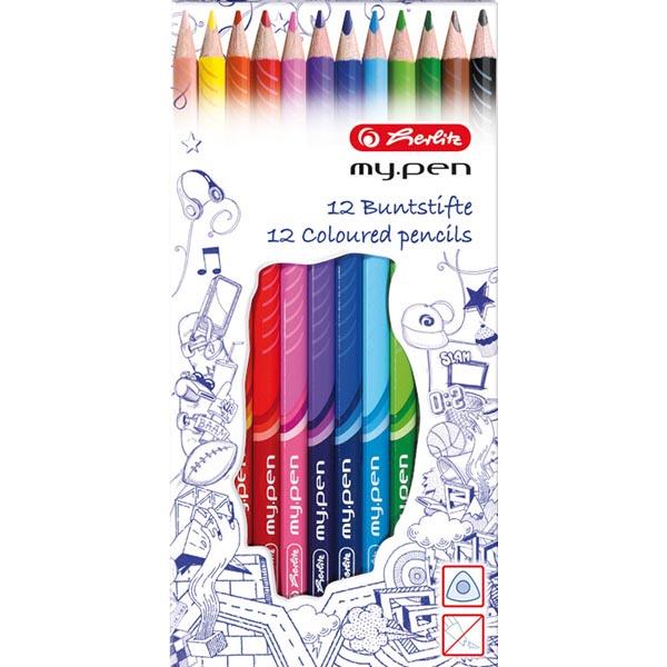 Herlitz Buntstifte my.pen 12 Farben 12 Stück