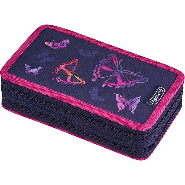 Herlitz Federmappe Doppel Decker Etui Rainbow Butterfly 23-teilig
