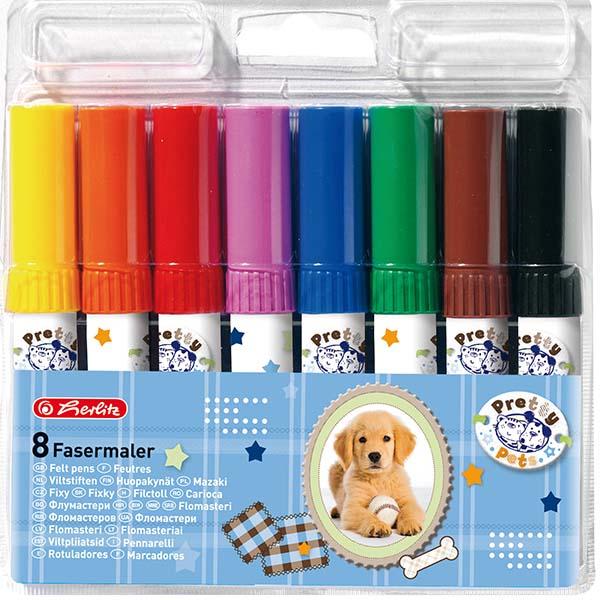 Herlitz Fasermaler Pretty Pets 8 Stück 8 Farben