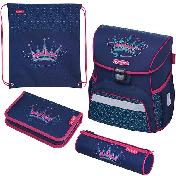 Herlitz Schulranzen Set Loop Plus Crown 4-teilig