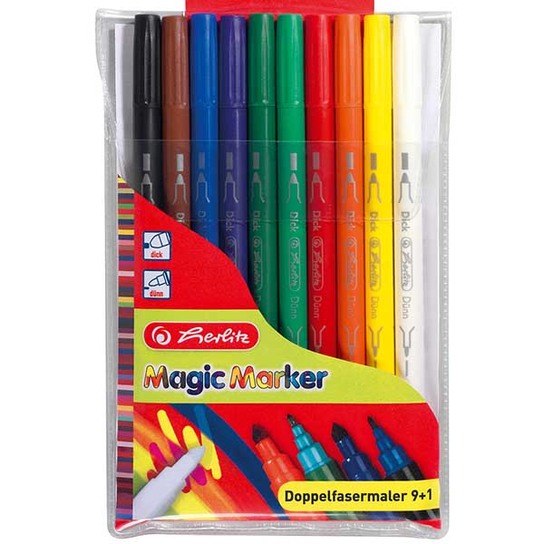 Herlitz Doppelfasermaler Magic Colours 10 Stück