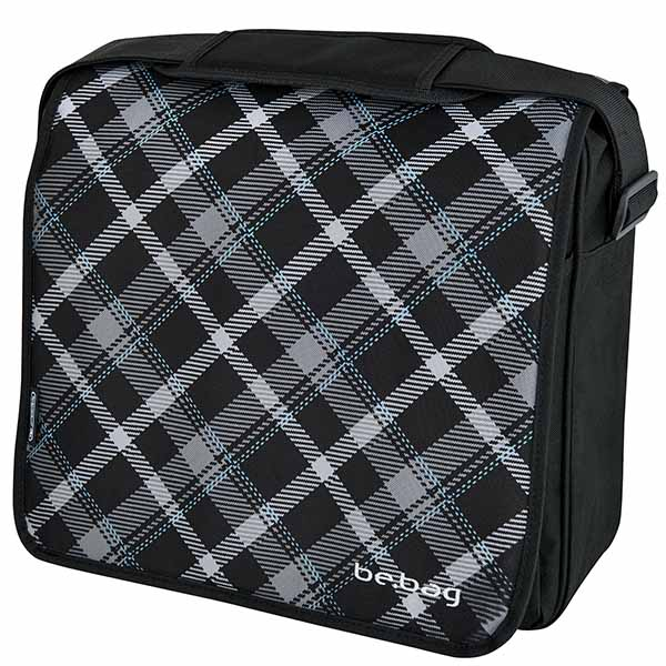 Herlitz Black Checked be.bag Messenger Bag