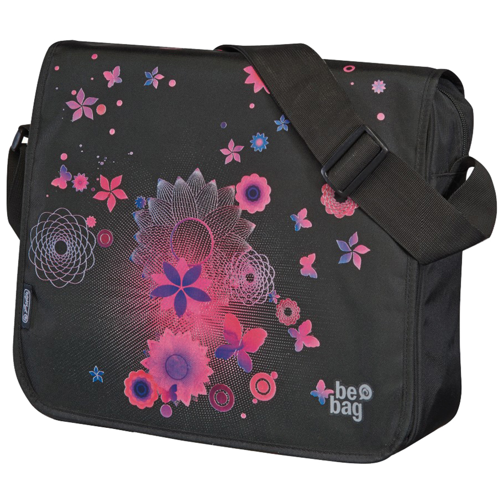Herlitz Pink Butterflies be.bag Messenger Bag