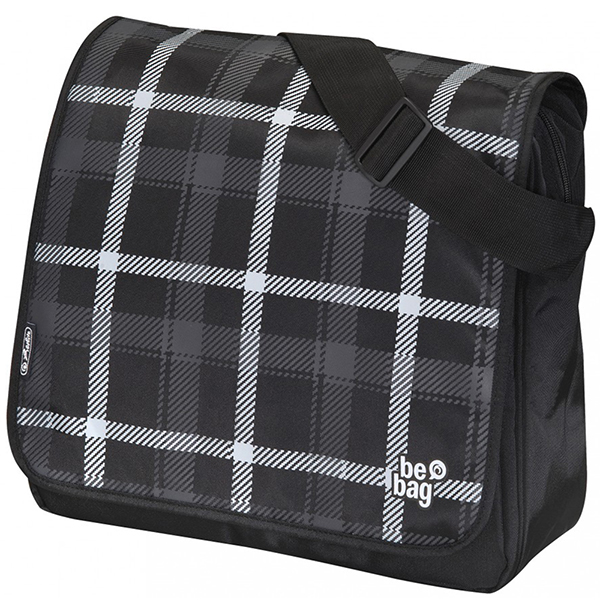 Herlitz Karo grau schwarz be.bag Messenger Bag