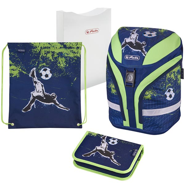 Herlitz Schulrucksack Motion Plus Kick it 4-teilig