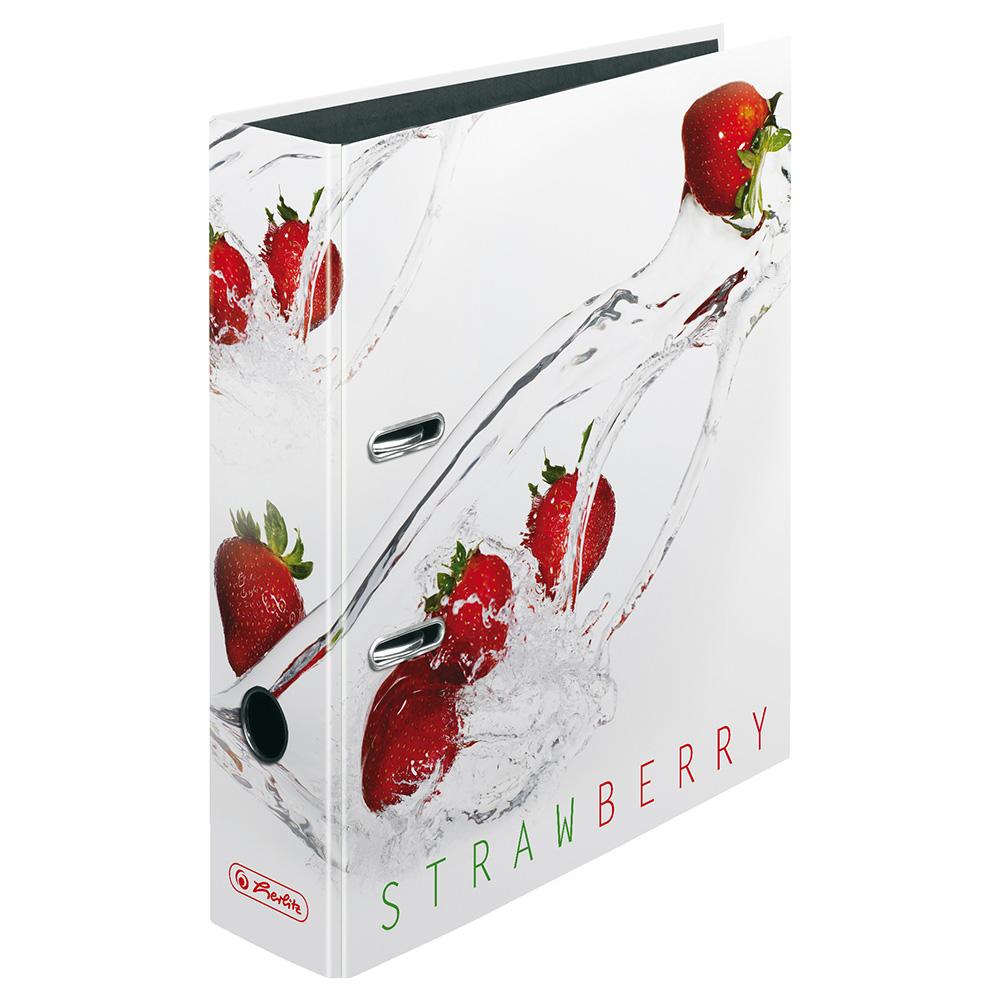 Herlitz Motivordner Fresh Fruit Erdbeere 80 mm DIN A4