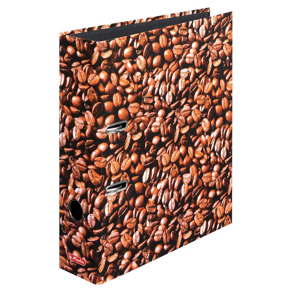 Herlitz Ordner Kaffee 80 mm DIN A4 maX.file