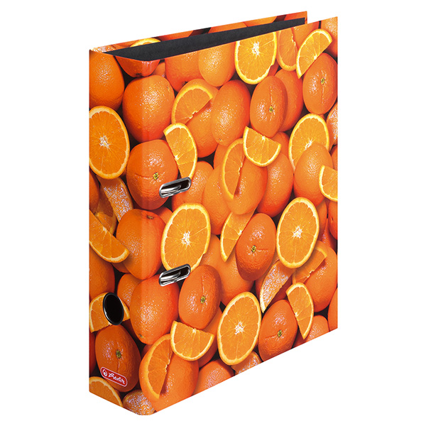 Herlitz Ordner Orangen 80 mm DIN A4 maX.file