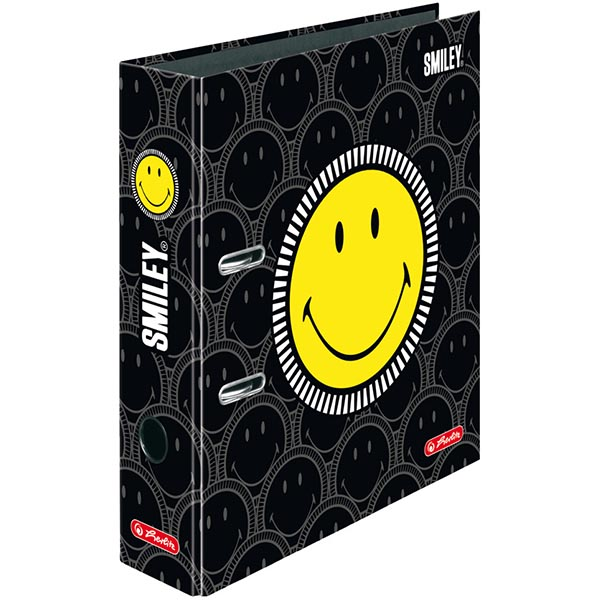 Herlitz Motivordner Smiley Black Faces 80 mm DIN A4