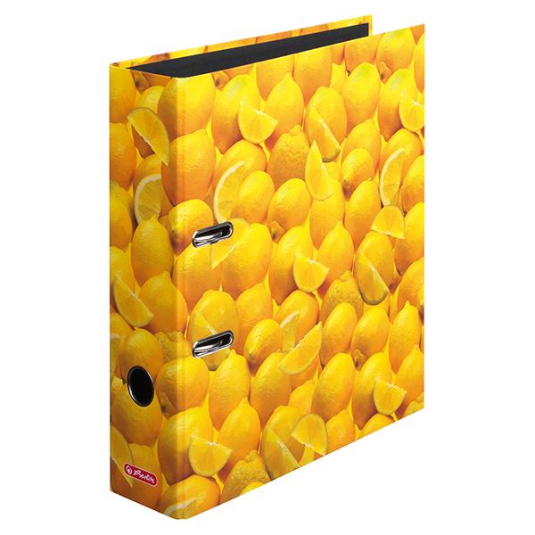 Herlitz Motivordner Zitronen 80 mm DIN A4