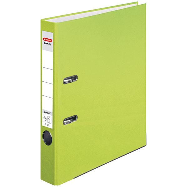 Herlitz Ordner neon grün 50 mm DIN A4 maX.file protect