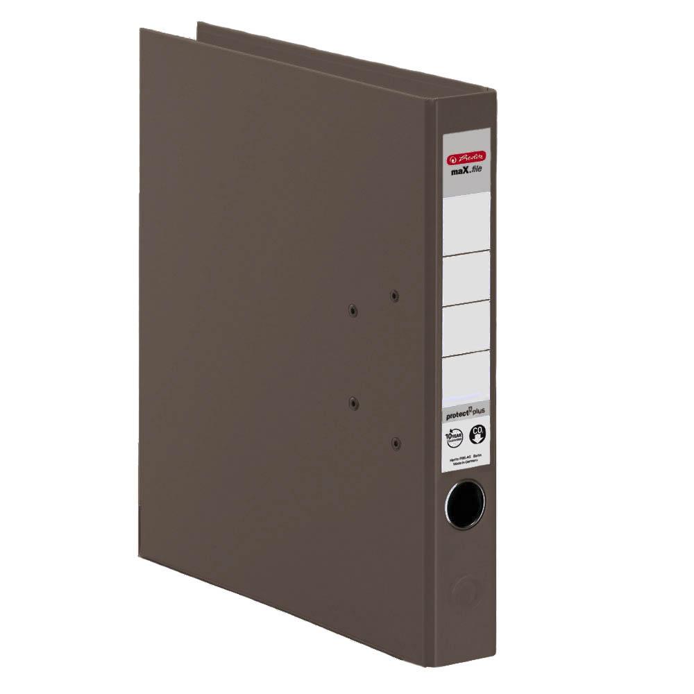 Herlitz Ordner braun 50 mm DIN A4 maX.file protect plus
