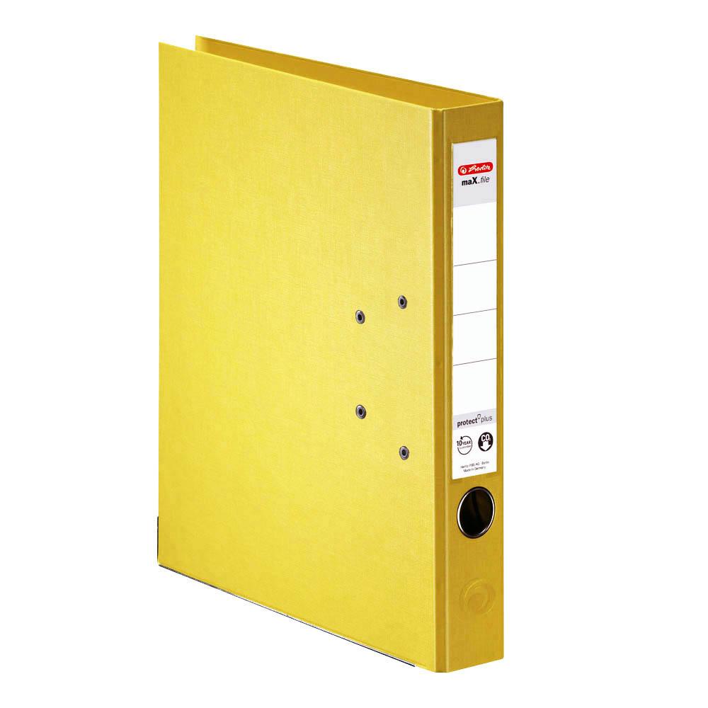 Herlitz Ordner gelb 50 mm DIN A4 maX.file protect plus